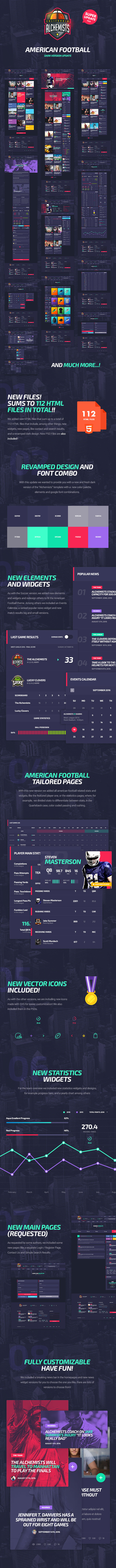 The Alchemists American Football Alchemists - Basketball, Soccer, Football Sports Club and News HTML Template (Nonprofit) Alchemists - Basketball, Soccer, Football Sports Club and News HTML Template (Nonprofit) The Alchemists HTML American Football Update
