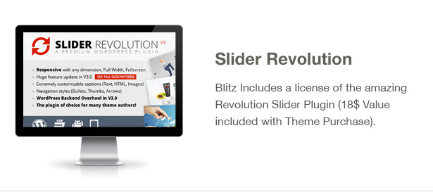Blitz Theme Features: Revolution Slider