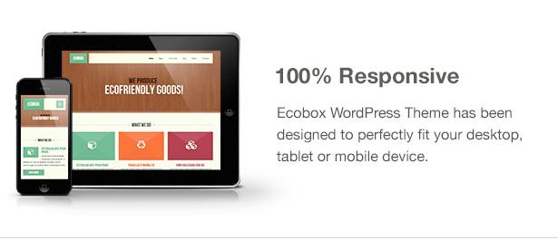 Ecobox WordPressのテーマの特徴:応答