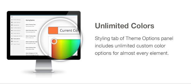 Ecobox WordPressのテーマの特徴:無制限の色