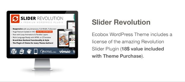 Ecobox WordPressのテーマの特徴:革命スライダー