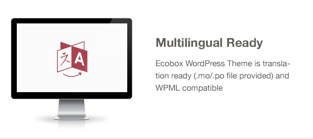 Ecobox WordPress Theme Features: Translation and WPML support