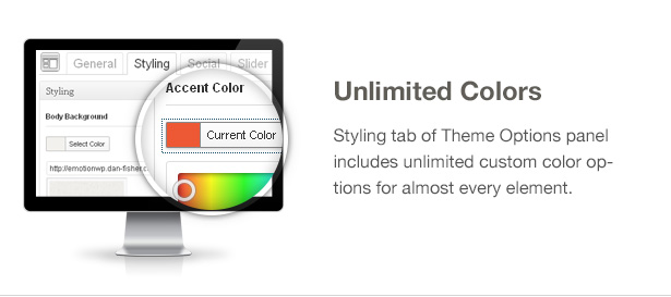 Emotion Theme Features: Unlimited Colors