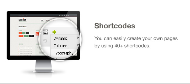 Emotion Theme Features: Shortcodes