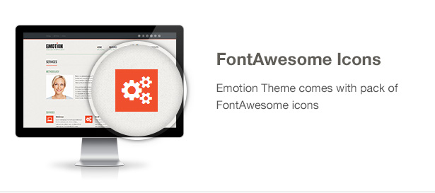 Emotion Theme Features: FontAwesome Icons