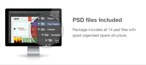 Emotion Theme Features: PSD files included