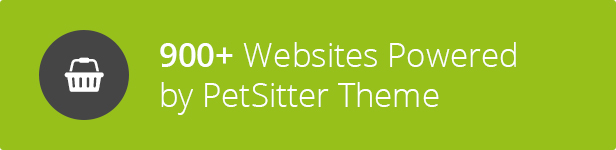 900+ users - Pet Sitter WordPress Theme Responsive