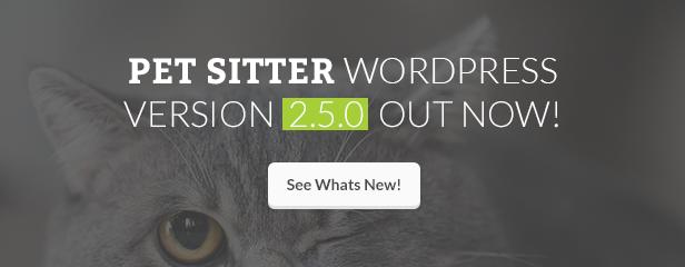 Update - Pet Sitter WordPress Theme Responsive