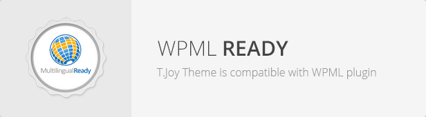 WPML Ready - T.Joy WordPress Theme Responsive