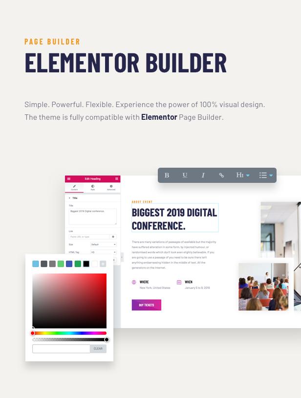 Voelas WordPress Theme - Elementor Page Builder