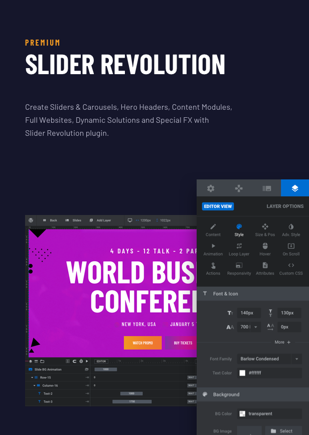Voelas WordPress Theme - Slider Revolution